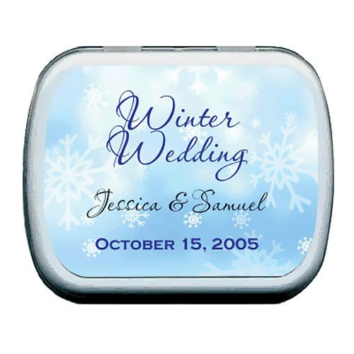 Snowflakes Holiday Party Mint Tins