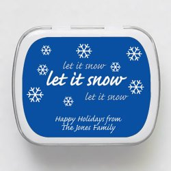 Let it Snow Holiday Mint Tins