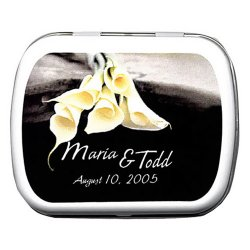 Calla Lily Wedding Mint Tins
