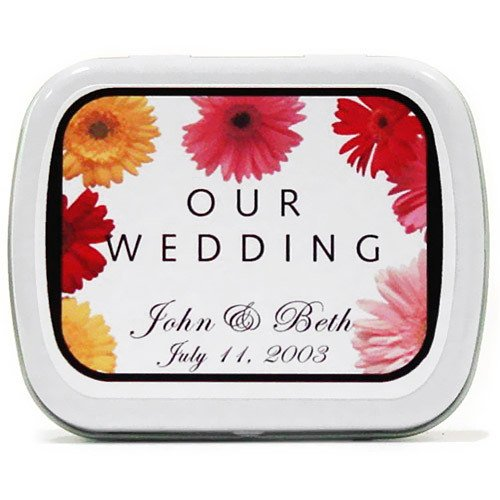 Gerber Daisy Wedding Mint Tin