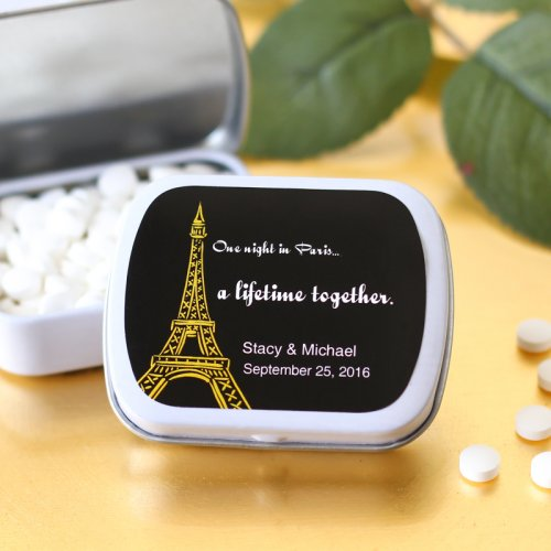 Eiffel Tower Wedding Mint Tin
