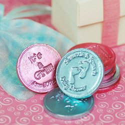 Personalized Baby Shower Chocolate Coins