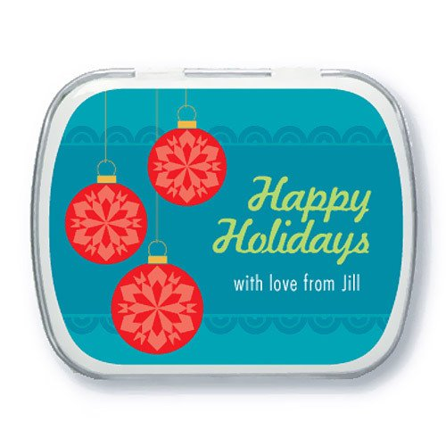 Personalized Holiday Ornaments Mint Tins