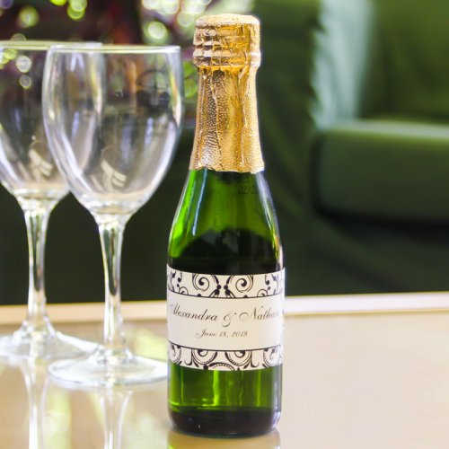 Mini Sparkling Cider Bottle with Personalized Label