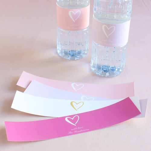 Personalized Heart Drink Labels