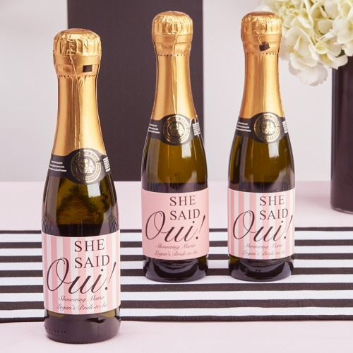 Personalized She Said Oui Drink Labels