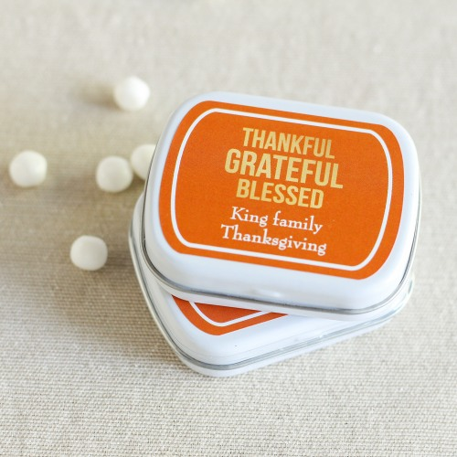 Personalized Thanksgiving Mint Tins