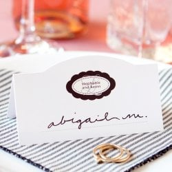 Custom Printed Wedding Place Cards