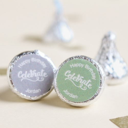 Personalized Celebrate Birthday Hersheys Kisses