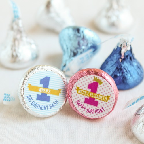 Personalized 1st Birthday Hershey's Kisses