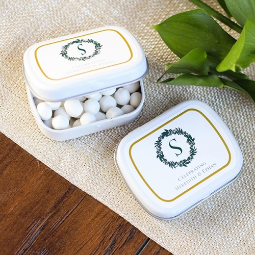 Personalized Wreath Mint Tin