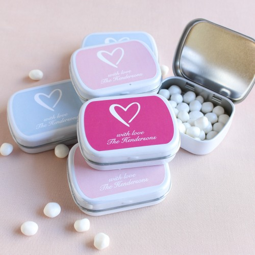 Personalized Heart Mint Tins