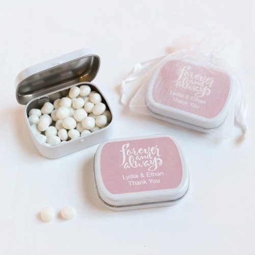 Exclusive Forever Always Personalized Mint Tin