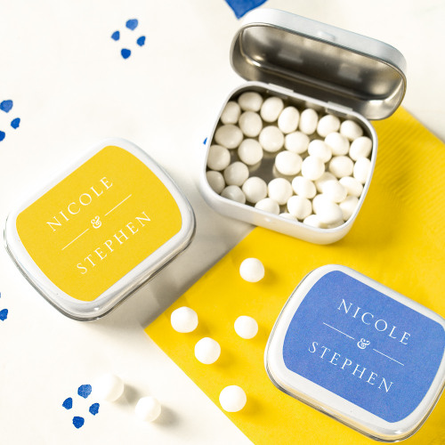 Exclusive Citrus Garden Wedding Collection Personalized Mint Tins