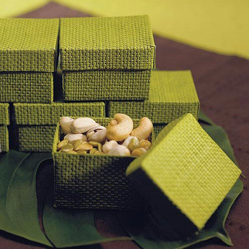 Green Woven Favor Box