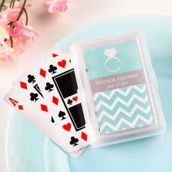 Bridal Playing Cards with Personalized Labels