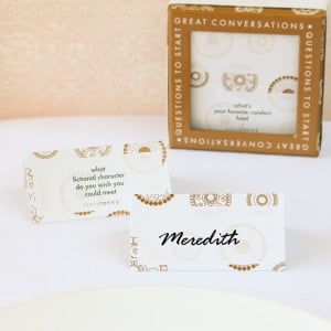 Conversation Starter Place Cards