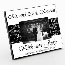 Personalized Mr. and Mrs. Picture Frames