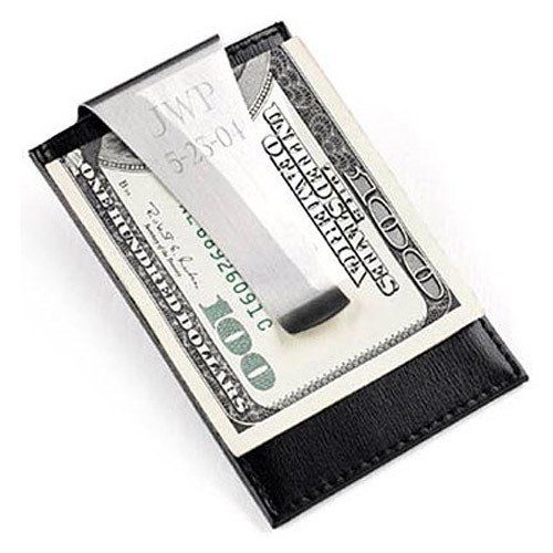 Engraved Money Clip Credit Card Holder