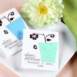 Personalized Designer Seed Card Favors