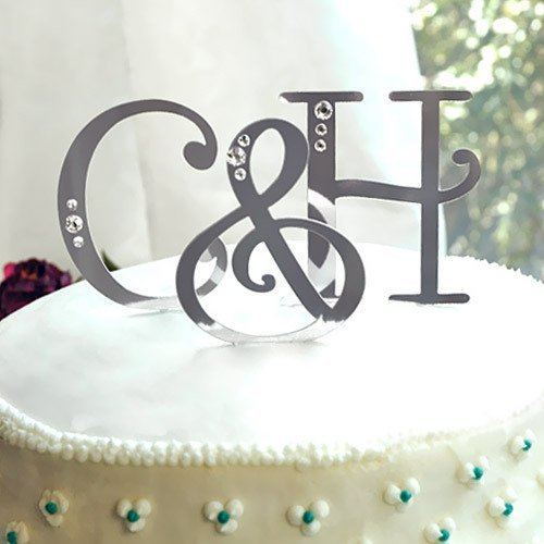 Swarovski Accent Letter Cake Topper