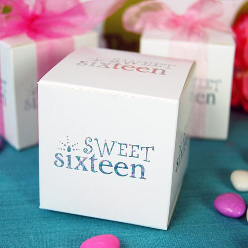 Sweet 16 Favor Box