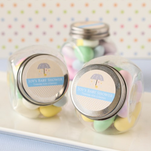Personalized Baby Shower Mini Glass Candy Jar