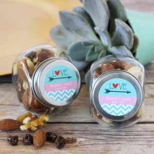 Personalized Mini Glass Candy Jars