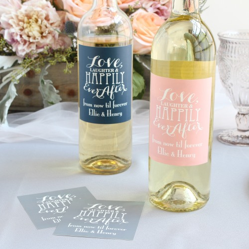 Personalized Love Laughter Wine Label