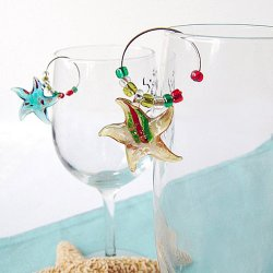 Beach Themed Wine Charms