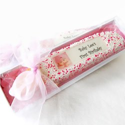 Personalized Baby Photo Biscotti Favors
