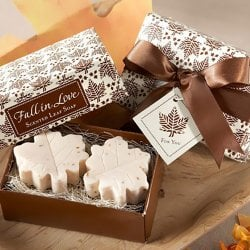 Fall Leaf Soap Favors