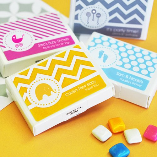 Personalized Baby Gum Favors