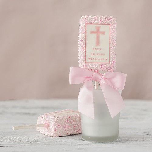 Christening and Baptism Rice Krispy Favors