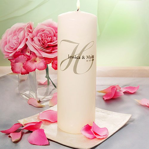 Classic Monogrammed Unity Candle