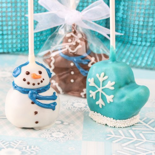 Mini Winter Brownie Favor Pops
