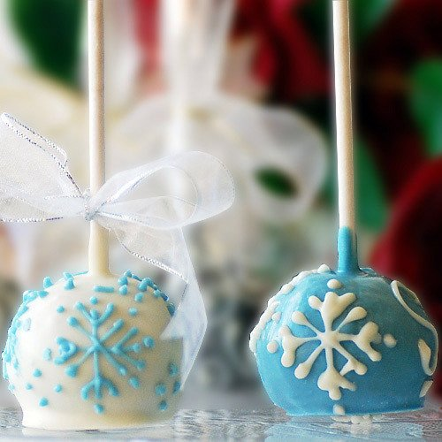 Mini Snowflake Brownie Favor Pops