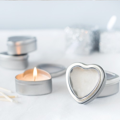 Vanilla Heart Travel Candle