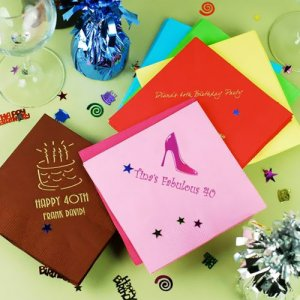 Personalized Birthday Napkins