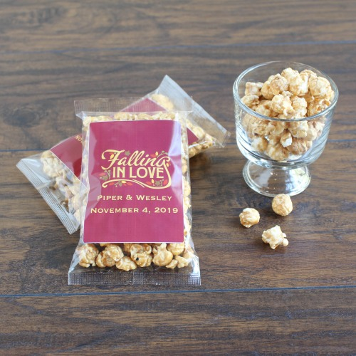 Personalized Fall Love Caramel Corn