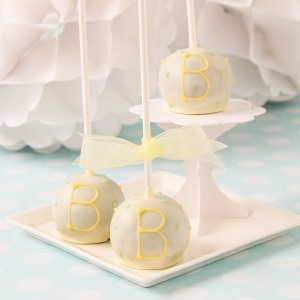 Mini Personalized Baby Shower Brownie Favor Pops