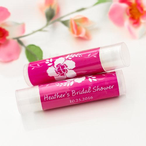 personalized bridal shower lip balm favors