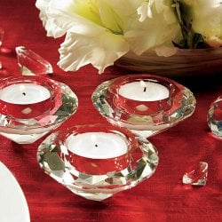Crystal Diamond Tealight Holders
