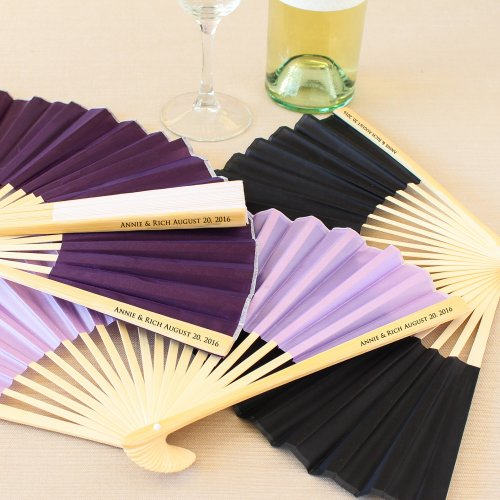Personalized Silk Fans Personalized Hand Fans Silk Hand Fans
