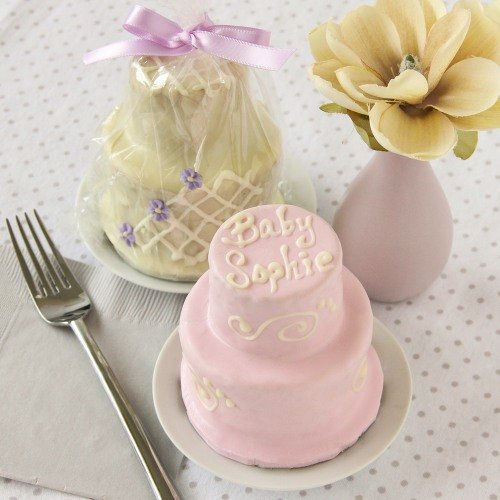 Personalized 2-Tier Mini Cakes
