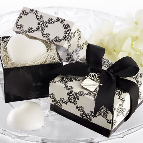 Damask Heart Shaped Soap Favors