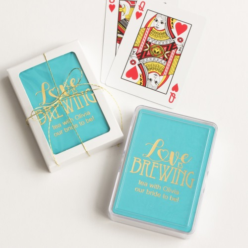 Love Is Brewing Customized Playing Cards