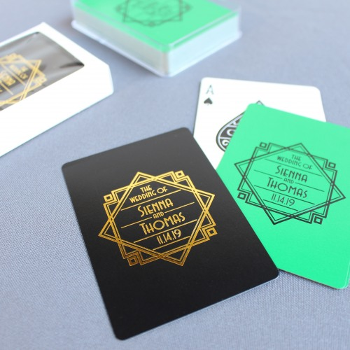 Modern Deco Customized Playing Cards