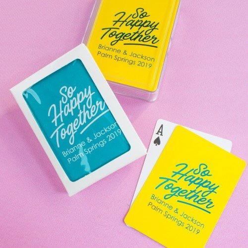 Happy Together Customized Playing Cards