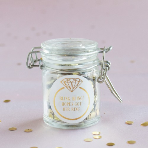 Personalized Ring Glass Favor Jars